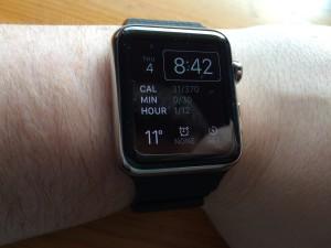 The Apple watch on my wrist